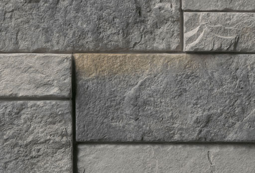 medium gray stone veneer color