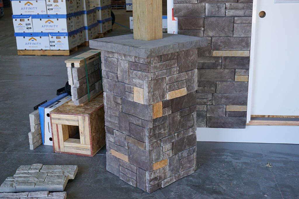stone post wraps