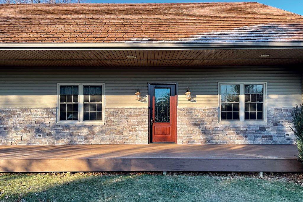 screw on stone veneer for house exterior